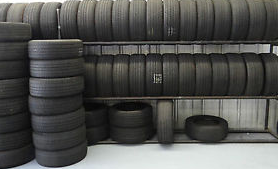 Collection of used tires
